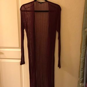 Full length, lightweight ribbed sweater